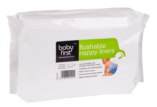 Baby First Delux Flushable Liners - 100 Pack