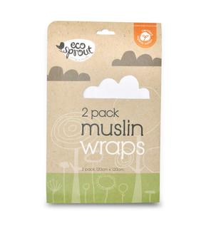 EcoSprout 2 Pack Organic Cotton Muslin Wraps