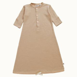 Nature Baby 100% Organic Merino Wool Gown - Prem - Ginger
