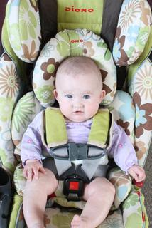 Milla LOVES her new Diono RXT Radian Spring carseat.