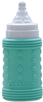 Coddlelife Ultra Cushioning Silicone Bottle Wrap - Blue Green 240ml/8oz