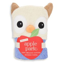 Apple Park Organic Cotton Hooded Towel - Owl