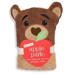 Apple Park Organic Cotton Hooded Towel - Cubby