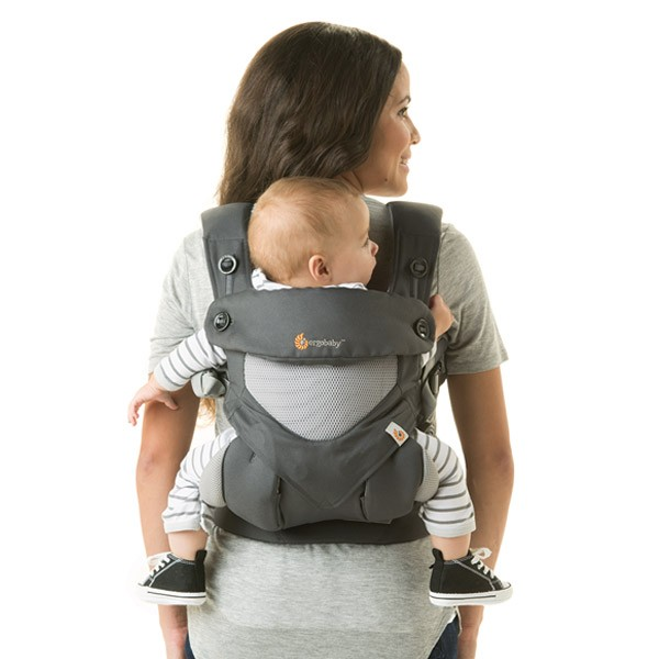 715db3e62a6 Ergobaby Four-Position Cool Air 360 Carrier - Carbon Grey - Cheeky ...
