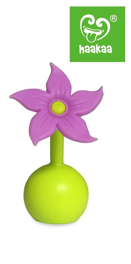 Haakaa Silicone Breast Pump Flower Stopper - Purple
