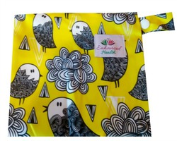 Lotus Lady Cloth Wet Bag - Birdies
