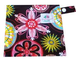 Lotus Lady Cloth Wet Bag - Retro Floral