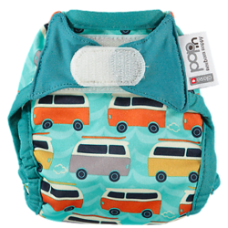 Pop-in Newborn Nappy - Campervan Green