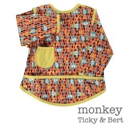 Pop-in Stage 3 Coverall Bib - Monkey (Ticky and Bert)