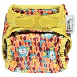 Pop-in Reusable Nappy Wrap - Monkey