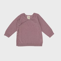 Nature Baby Organic Cotton Knit Kimono Jacket - Woodrose Pointelle - Newborn (0000)