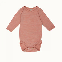 Nature Baby Merino Long Sleeve Bodysuit - Water Lily Marl - 3-6 months (00)