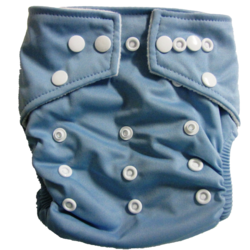 Hippybottomus Stay Dry Bamboo Cloth Nappy - Light Blue