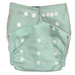 Hippybottomus Stay Dry Bamboo Cloth Nappy - Spearmint