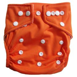 Hippybottomus Stay Dry Bamboo Cloth Nappy - Orange