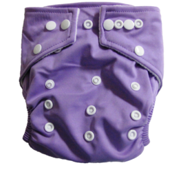 Hippybottomus Stay Dry Bamboo Cloth Nappy - Purple