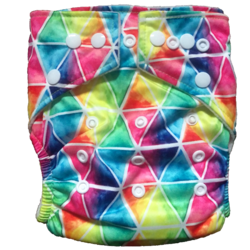Hippybottomus Stay Dry Bamboo Cloth Nappy - Rainbow