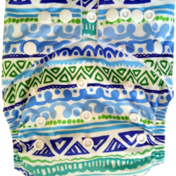 Hippybottomus Stay Dry Bamboo Cloth Nappy - Tribal