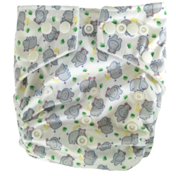 Hippybottomus Stay Dry Bamboo Cloth Nappy - Hippo