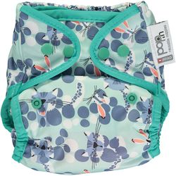 Pop-in Popper Nappy +bamboo - Snow Leopard