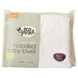 Eco Sprout Organic Cotton Hooded Baby Towel (Two Pack)