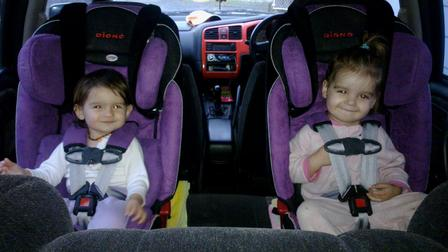 Rear Facing with two Diono RXT Radian Carseats