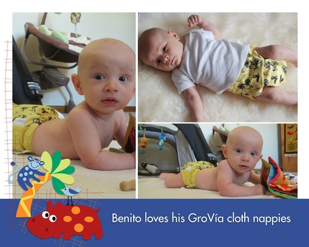 Benito loves his GroVia cloth nappies